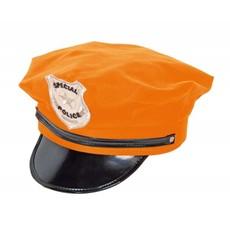 Politie pet neon oranje