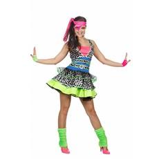 80's Girl kostuum Neon