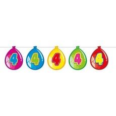 Vlaggenlijn ballonnen 4 jaar