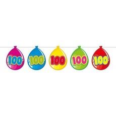Vlaggenlijn ballonnen 100 jaar