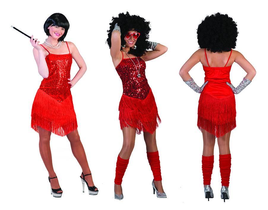 Rode glitter jurk