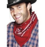 Cowboy bandana rood