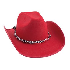 Toppers hoed cowboy rood