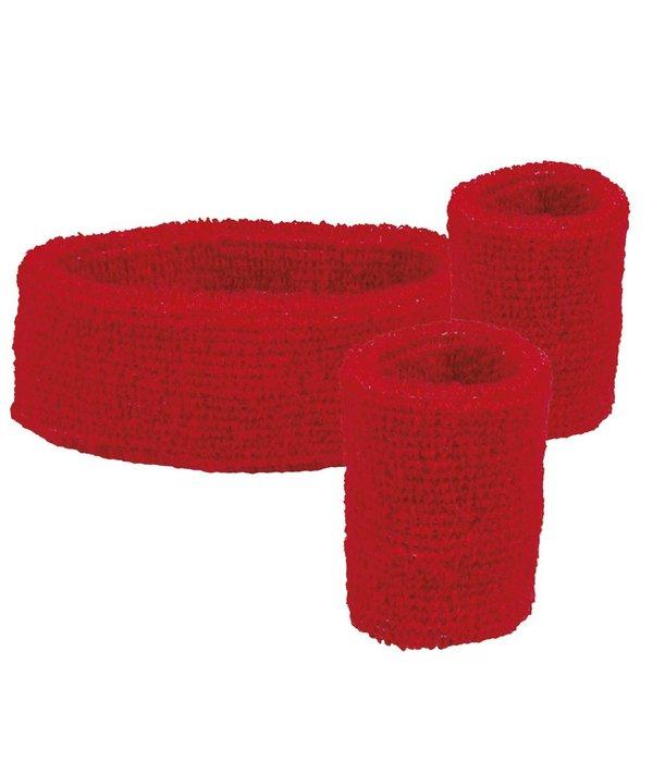 Set 3 zweetbanden rood