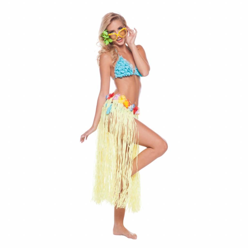 Hawaii rok geel 80 cm