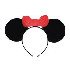 Mickey mouse oortjes met strik op diadeem