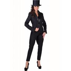 Slipjas cabaret zwart half gevoerd