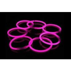 Glow in Dark armbanden roze 100 stuks