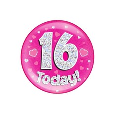 Button 16 today holografisch
