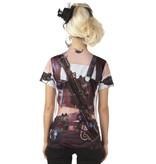 Mrs Steampunk fotorealistisch t-shirt
