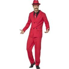 Gangster kostuum rood Zoot