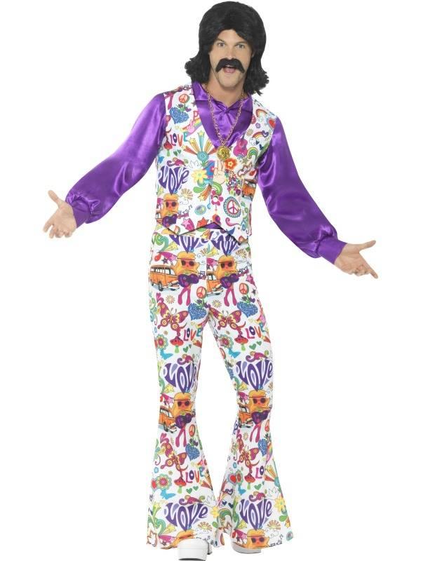 Jaren 60 Hippie kostuum Groovy