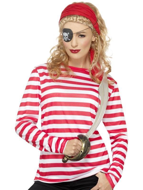 Voorkeur Gestreept T-shirt rood/wit man-vrouw - Feestbazaar.nl FT69
