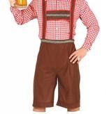 Bavariaanse Man kostuum lederhose + blouse