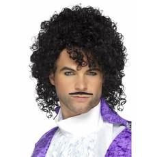 Muzikant Prince pruik en snor