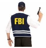 Zwarte FBI cap met vest volwassen