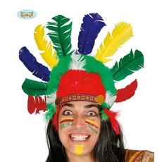 Indianen hoofdband met veren