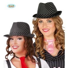 Gestreepte Gangster hoed