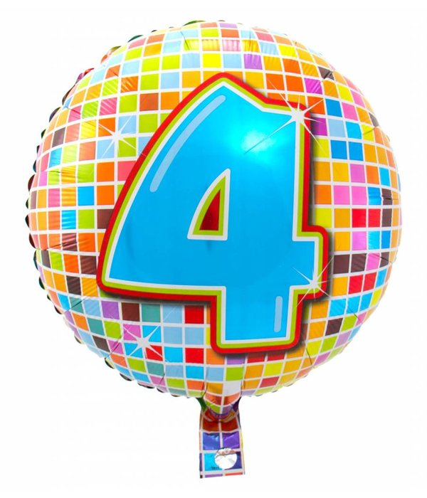 4 jaar Birthday Blocks folieballon - 43 cm