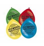 Ballonnen geslaagd mix kleuren