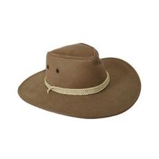 Cowboyhoed met koord beige