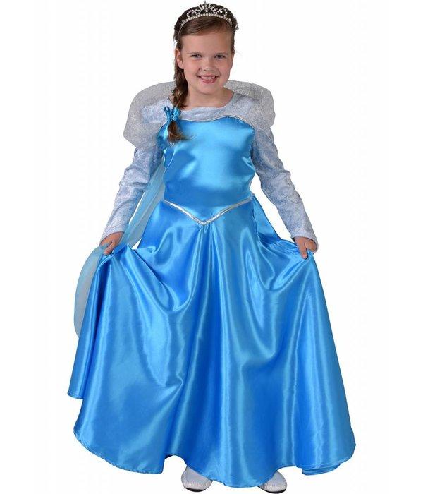 Blauwe ijskoningin jurk kind luxe