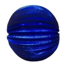 Lampion metallic blauw
