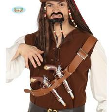 Piratenriem met 2 pistolen