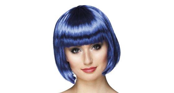 Blauwe pruik