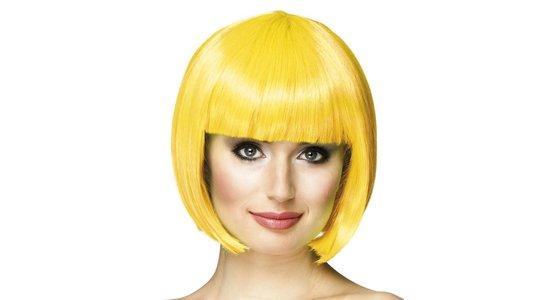 Gele pruik