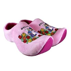 Klompsloffen roze boer/boerin