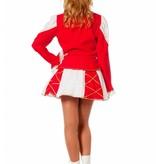 Dansmarietje pakje rood/wit vrouw