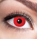 Kleurlenzen Duivel rood