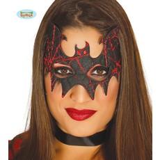Vleermuis masker zwart/rood
