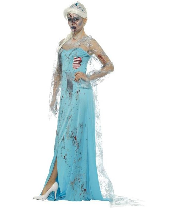 Zombie frozen kostuum vrouw