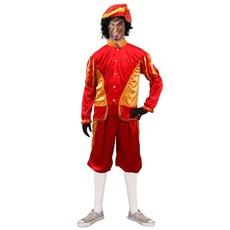 Pietenkostuum rood/goud Alexandro