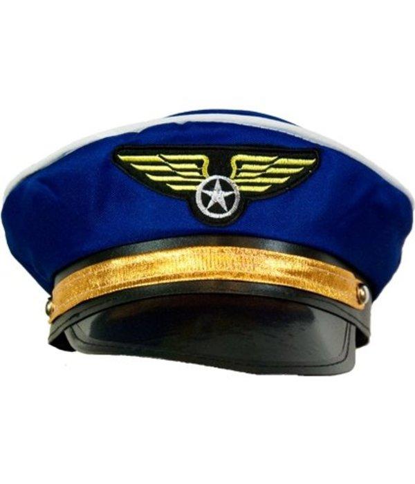 Blauwe pilotenpet
