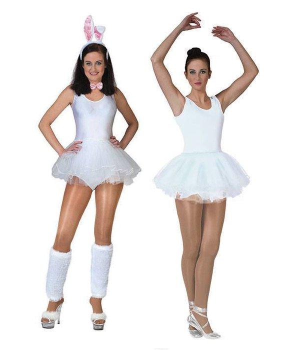 Ballerina pakje carnaval dames wit
