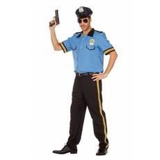 Politie carnavalskostuum man