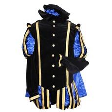 Luxe Pieten kostuum Malaga zwart/blauw