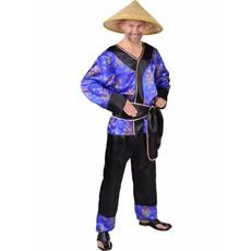 Japans Kostuum Blauw Man