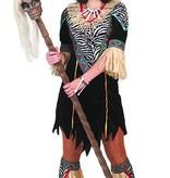 Afrikaanse vrouw kostuum