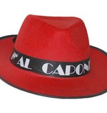 Al Capone Gangster hoed rood