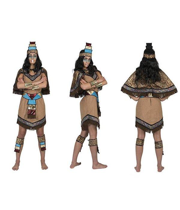 Azteken kostuum vrouw