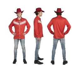 Rode Cowboy Linedancer blouse