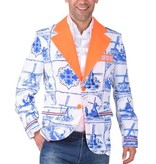 Hollandse colbert delfts blauw