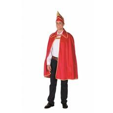 Prinsencape rood met steek heren
