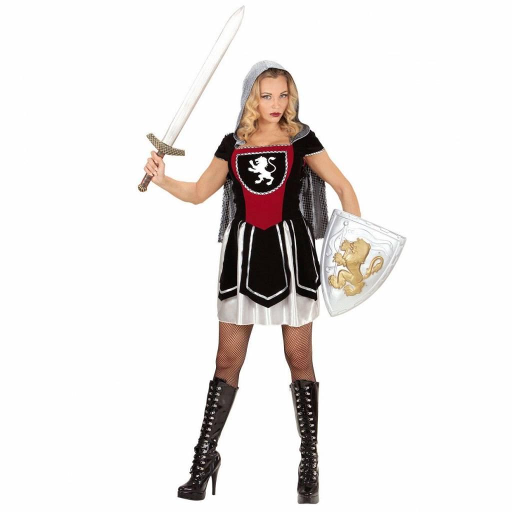 Vrouwelijke Royal ridder kostuum