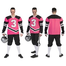 Fabulous American Footballer kostuum roze