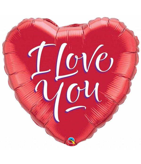 I Love You Hart Ballon 46cm Feestbazaarnl